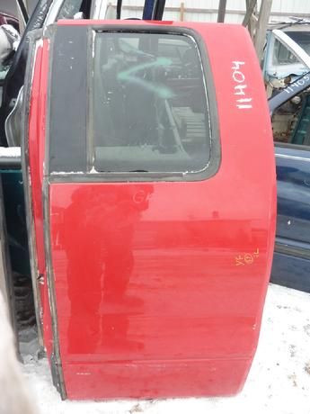 2004 2005 2006 2007 2008 Ford F150 drivers side supercab rear complete door.  Very good condition, some minor scuffs in paint.  Inventory #11404.