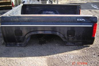 1987 1988 1989 1990 1991 1992 1993 1994 1995 1996 1997 FORD SHORTBOX. GOOD CONDITION, SCUFFS AND SCRATCHES, FADED PAINT, SOME SURFACE RUST. INVENTORY #2234