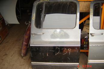 73 - 91 Chevrolet Suburban Right Side OEM Secondary Door.  Excellent condition, no dents.  Grey & black in color.