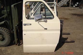 75 - 91 Ford Full Size Van Right side manual door.  Complete door, perfect condition, white exterior.