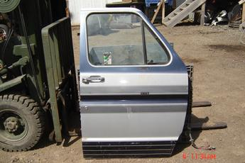 75 - 91 Ford Fullsize Van Right Front Power Door.  2 tone grey, excellent condition, interior is light tan.