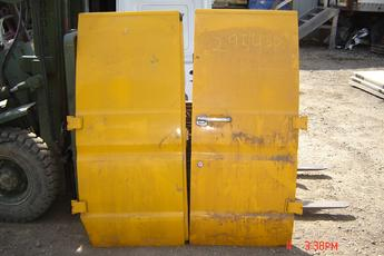 75 - 91 Ford Fullsize Van Side Doors.  Side non window cargo doors.  Excellent condition.  Yellow exterior.