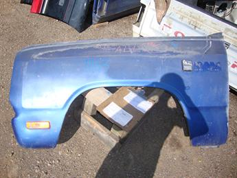 1981 1982 1983 1984 1985 1986 1987 1988 1989 1990 1991 1992 1993 Dodge Ram drivers side front fender.  Dent on lower rear , sun faded, dent in the front behind the bumper.  Reference inventory #11163 when inquiring.