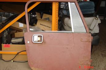 1987 1988 1989 1990 1991 1992 1993 1994 1995 1996 Jeep Wrangler YJ complete door.  Door in primer, outside has some surface rust, good glass, no mirror. $125