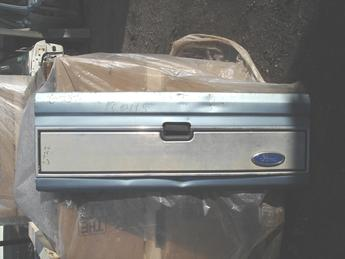 1983 - 1992 Ford Ranger Tailgate, Fair to Poor condition, some dings, large bow, scratches & scuffs. Silver/Blue in color #6732