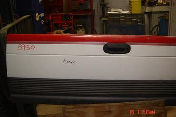 1994 1995 1996 1997 1998 1999 2000 2001 Dodge tailgate complete with hardware. Some small dents on top, a few scratches, has lower black plastic trim piece. Red/white in color. $225
