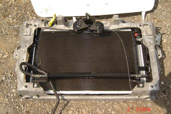2006 2007 2008 Ford Lincoln MKS Radiator Assembly.  Includes transcooler, core support, fan assembly, AC condensor & radiator.  Complete assembly.