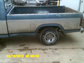 1980 1981 1982 1983 1984 1985 1986 FORD F-150 LONGBOX. THE DRIVERS SIDE FRONT DOOR IS DENTED, PASSENGER SIDES FRONT LOWER IS DENTED, PAINT IS FADED. INVENTORY #12861