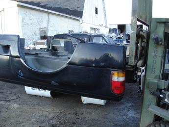 1993 - 1997 Ford Ranger Stepside Box, Good condition with lower left side fender tear, paint flakes, scuffs, scratches. Black in color #6737